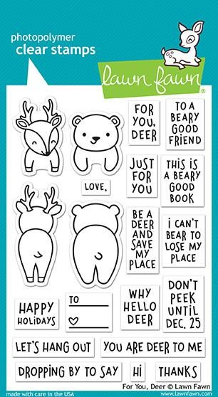 Lawn Fawn - Clear Stamps - For You, Deer
