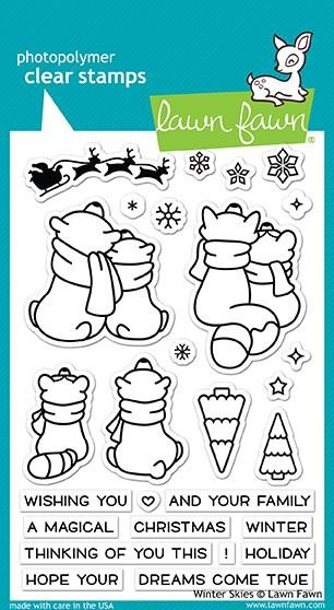 Lawn Fawn - Clear Stamps - Winter Skies