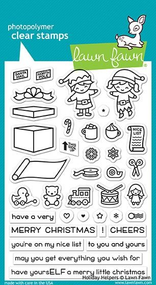 Lawn Fawn - Clear Stamps - Holiday Helpers