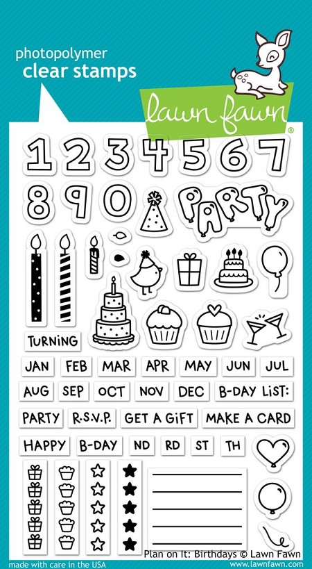 Lawn Fawn - Clear Stamps - Plan On It: Birthday