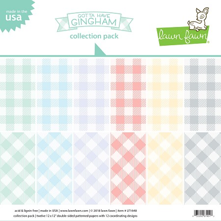Lawn Fawn - 12x12 paper pack - Gotta Have Gingham Collection Paper Pack