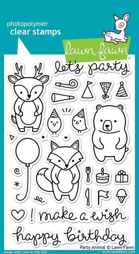 Lawn Fawn - Clear Stamps - Party Animal