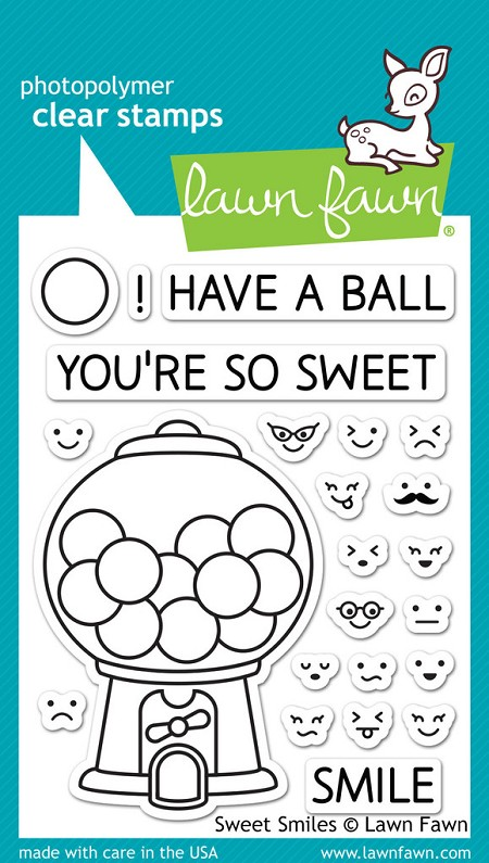 Lawn Fawn - Clear Stamps - Sweet Smiles