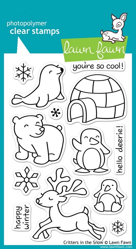 Lawn Fawn - Clear Stamps - Critters in the Snow