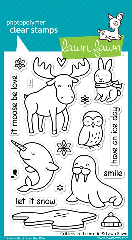 Lawn Fawn - Clear Stamps - Critters in the Arctic