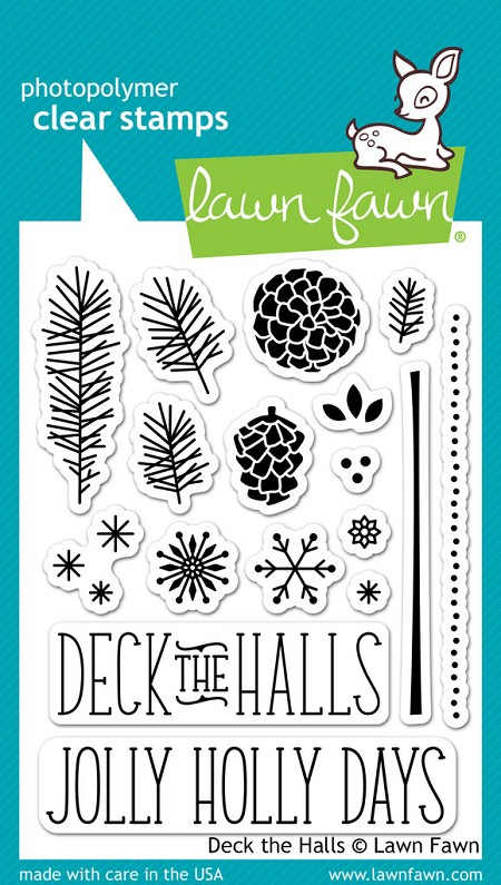 Lawn Fawn - Clear Stamps - Deck the Halls