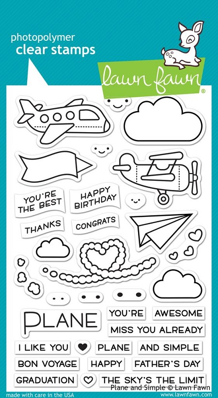 Lawn Fawn - Clear Stamps - Plane & Simple