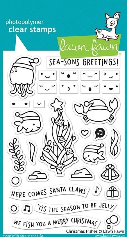 Lawn Fawn - Clear Stamps - Christmas Fishes