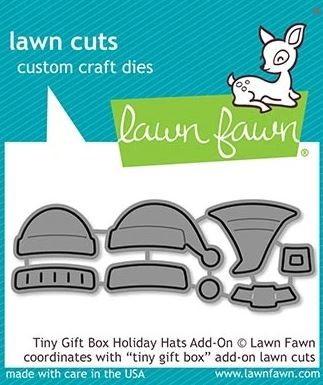 Lawn Fawn - Die - Tiny Gift Box Holiday Hats Add-On