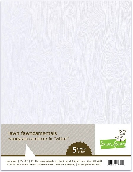 Lawn Fawn - 8.5x11 specialty paper - White Woodgrain Cardstock
