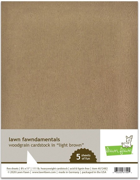Lawn Fawn - 8.5x11 specialty paper - Light Brown Woodgrain