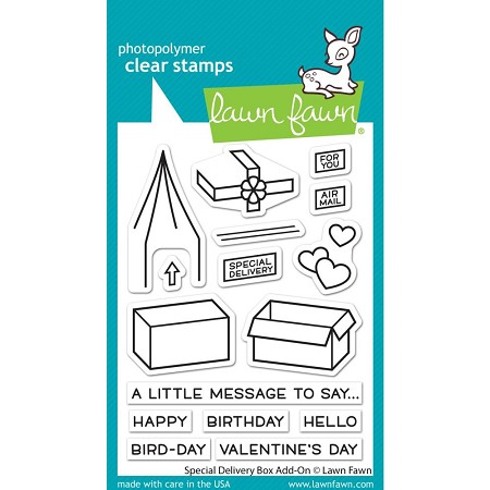 Lawn Fawn - Clear Stamps - Special Delivery Box Add-On