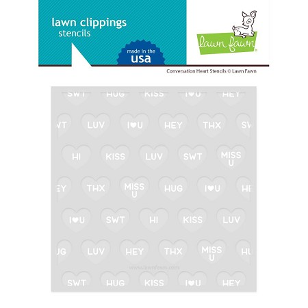 Lawn Fawn - Conversation Heart Stencil Set