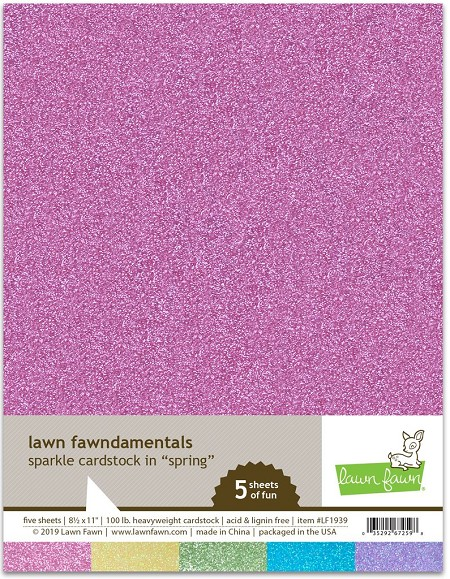 Lawn Fawn - 8.5x11 specialty Paper - Sparkle Spring