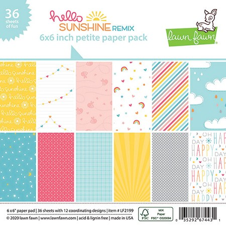 Lawn Fawn - 6x6 paper pad - Hello Sunshine Remix Paper Pack
