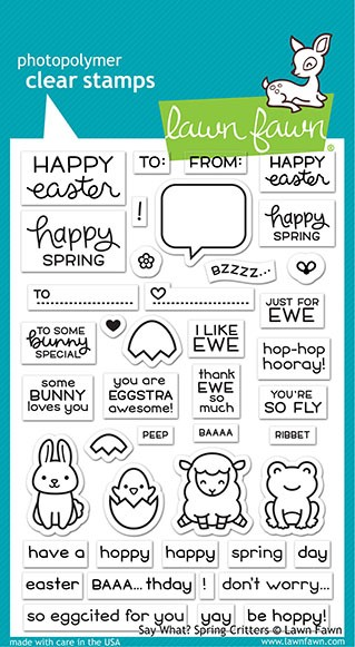 Lawn Fawn - Clear Stamps - Say What? Spring Critters