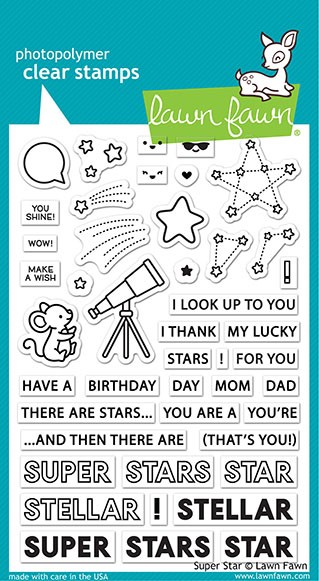 Lawn Fawn - Clear Stamps - Super Star