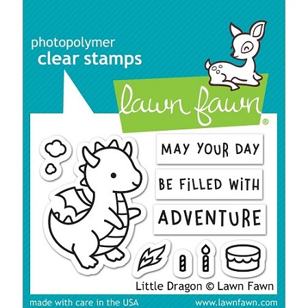 Lawn Fawn - Clear Stamps - Little Dragon