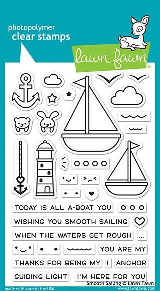 Lawn Fawn - Clear Stamps - Smooth Sailing