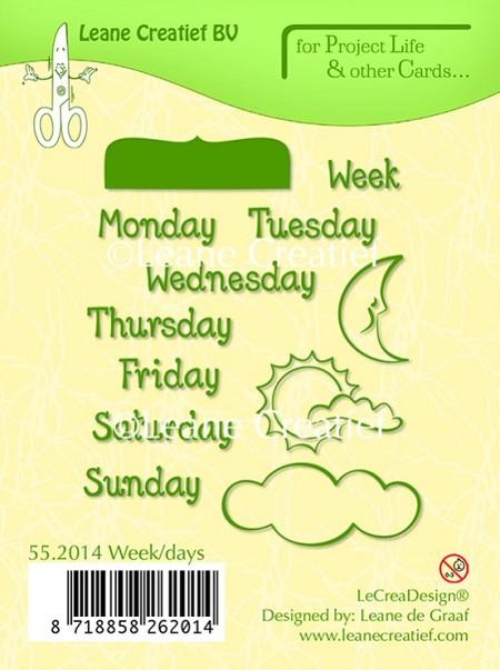 Leane Creatif Lea Bilities Clear Stamp Days Of The Week