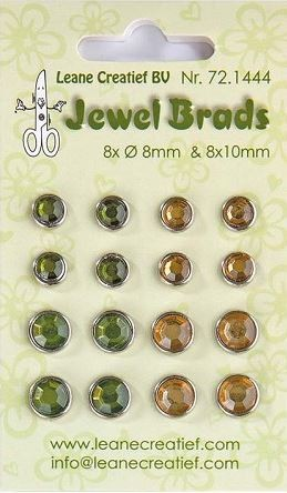 Leane Creatif - Jewel Brads - Moss Green/Light Gold