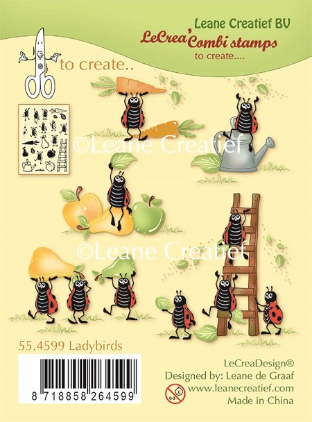 Leane Creatif - Lea'bilities Clear Stamp - Ladybirds