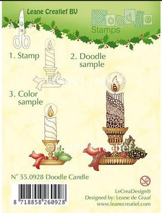 Leane Creatif - Lea'bilities Clear Stamp - Doodle Christmas Candle