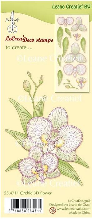 Leane Creatif - Lea'bilities Clear Stamp - Orchid 3D Flower