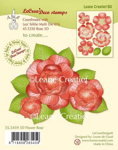 Leane Creatif - Lea'bilities Clear Stamp - 3D Flower Rose
