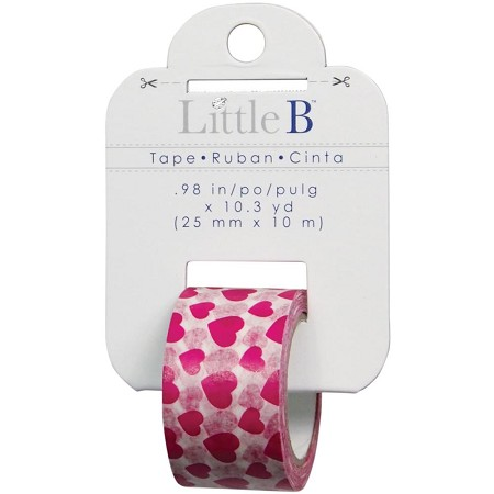 Little B - Decorative Tape - (25mm x 10m) - Pink Hearts