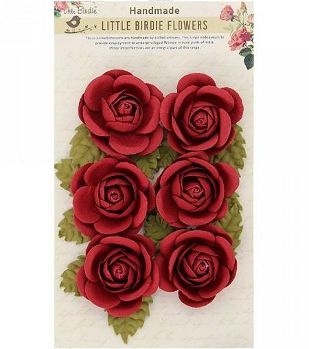 Little Birdie Paper Flowers Sharon Roses Sangria