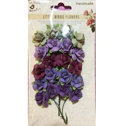 Little Birdie - Paper Flowers - Catalina Roses Berry Punch