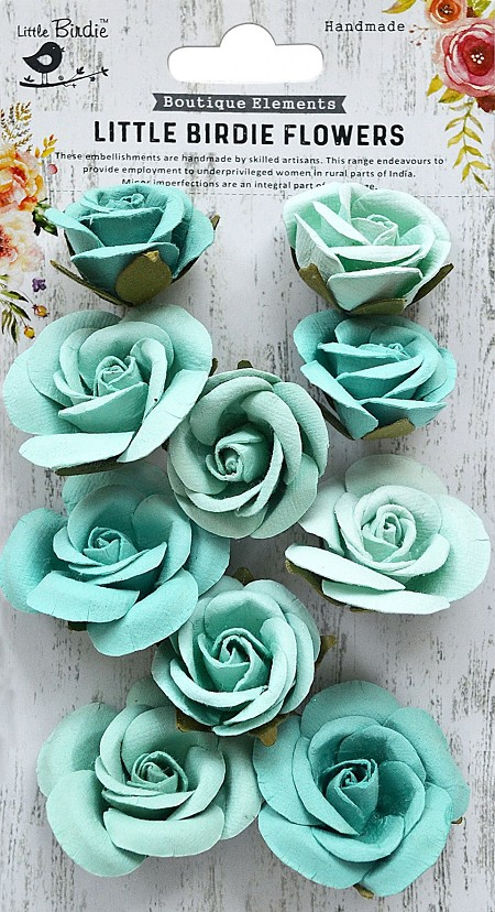 Little Birdie - Paper Flowers - Joanna Artic Ice
