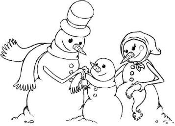 Magenta Cling Stamp - Snow Family