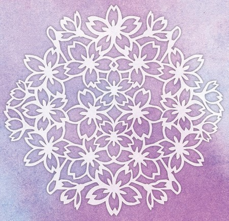 "Magenta - 5""x5"" Template - Mask Blossoms"