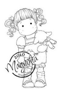 Magnolia - Cling Mounted Rubber Stamp  - Tilda Carrying A Lamb