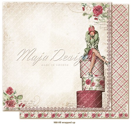 "Maja Design - Christmas Season Collection - 12""x12"" Double Sided Cardstock - All Wrapped Up"