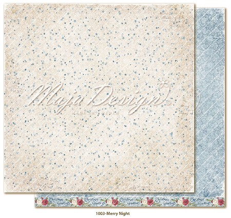 "Maja Design - Christmas Season Collection - 12""x12"" Double Sided Cardstock - Merry Night"