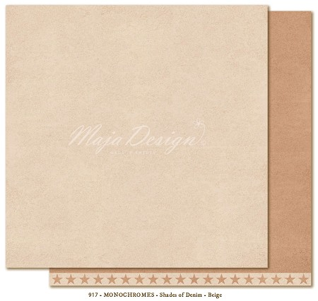 "Maja Design - Monochromes - 12""x12"" Double Sided Cardstock - Shades of Denim & Friends Beige"