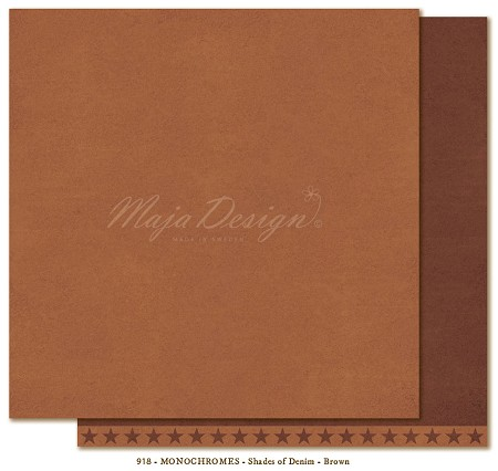 "Maja Design - Monochromes - 12""x12"" Double Sided Cardstock - Shades of Denim & Friends Brown"