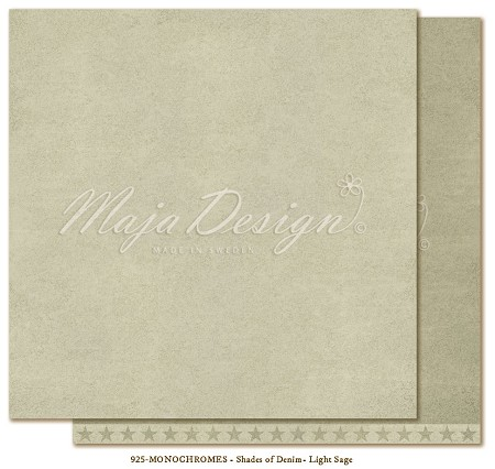 "Maja Design - Monochromes Collection - Shades of Denim & Girls Light Sage - 12""x12"" Cardstock"