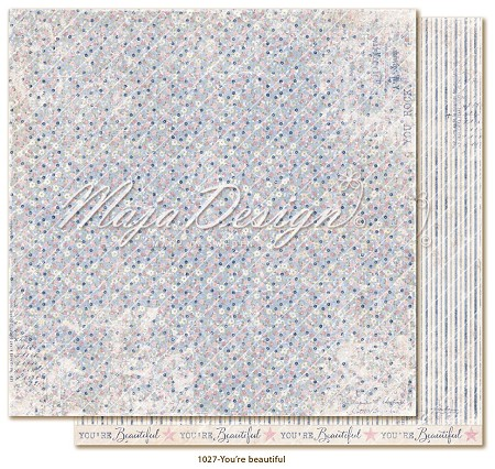 "Maja Design - Denim & Girls Collection - You´re Beautiful 12""x12"" Cardstock"
