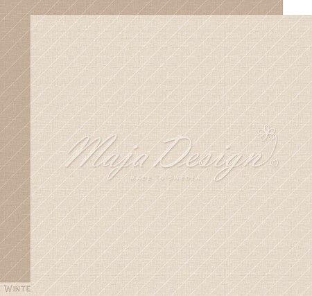 "Maja Design - Monochromes Shades of The Alps Sandalwood 12""x12"" Double Sided Cardstock"