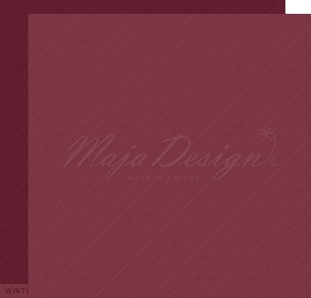 "Maja Design - Monochromes Shades of The Alps Cranberry 12""x12"" Double Sided Cardstock"
