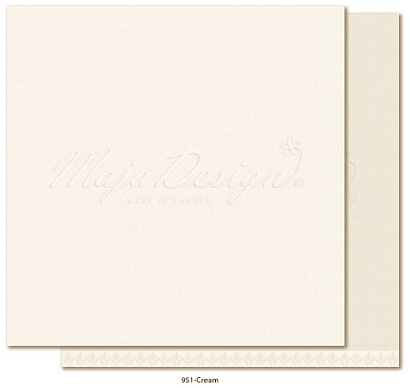 "Maja Design - Monochromes - 12""x12"" Double Sided Cardstock - Shades of Winterdays Cream"