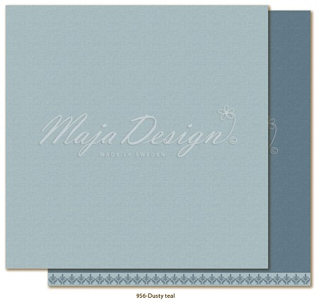 "Maja Design - Monochromes - 12""x12"" Double Sided Cardstock - Shades of Winterdays Dusty Teal"