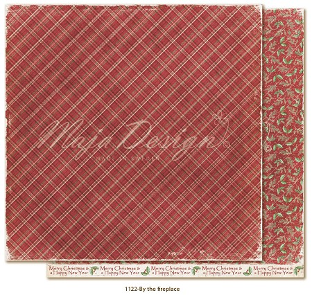 "Maja Design - Traditional Christmas Collection - By the fireplace 12""x12"" Double Sided Cardstock"