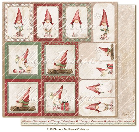 "Maja Design - Traditional Christmas Collection - Ephemera Die Cuts 12""x12"" Double Sided Cardstock"