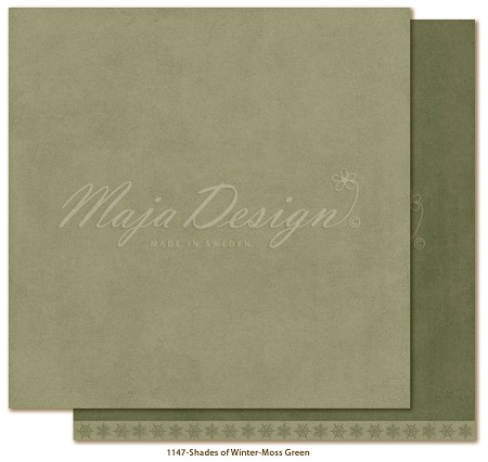 "Maja Design - Monochromes Shades of Winter Moss green 12""x12"" Double Sided Cardstock"