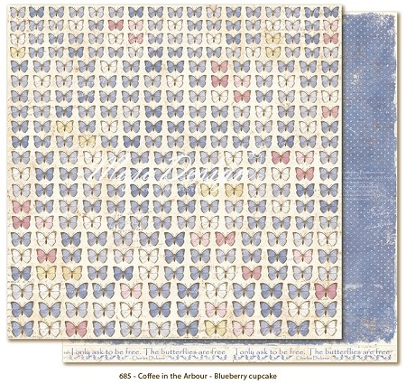 "Maja Design - Coffee in the Arbour Collection - 12""x12"" Double Sided Paper - Butterflies Are Free"
